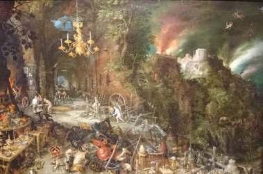 Alegoría del fuego - Brueghel - visitas guiadas milan